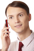 businessman talking on a phone