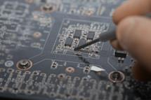 repairing a motherboard