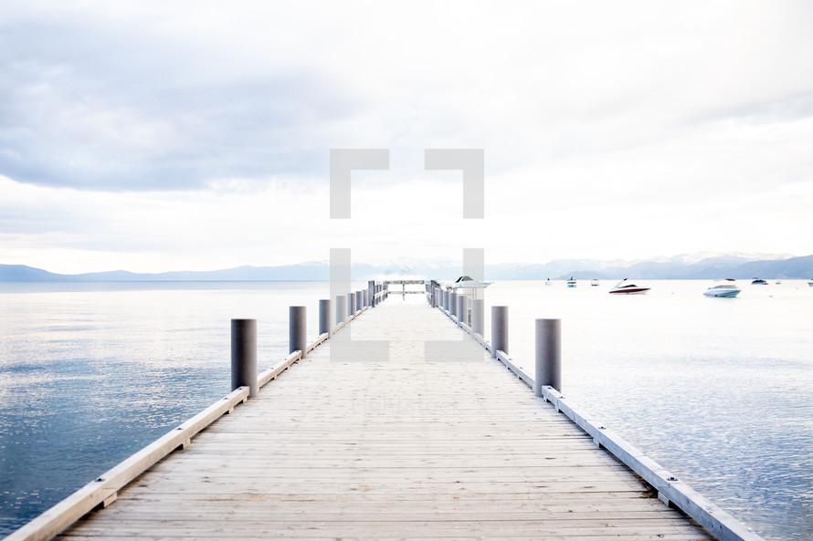 pier over a lake