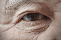 elderly man's eye