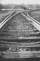spilt in train tracks