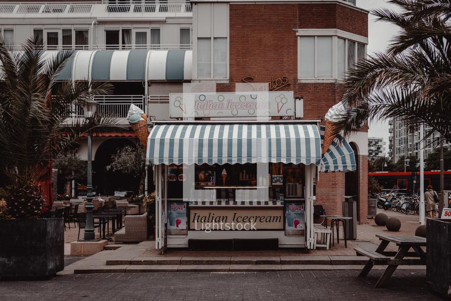 Italian Ice cream stand