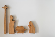 wooden nativity figurines