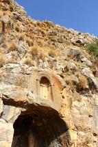 Ruins of pagan temple at Caesarea Philippi