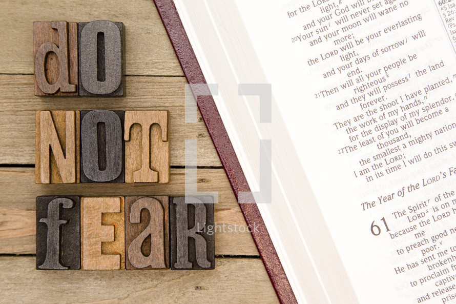 do not fear and open Bible