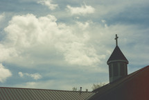 steeple and church roof