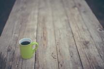 coffee mug and wood