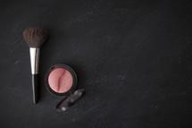 makeup against black background