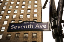Seventh Ave street sign
