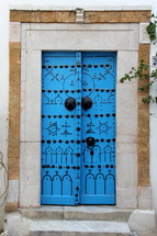 Decorative oriental wooden doors