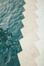 water and zigzag concrete