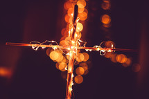 lights on a cross