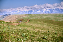 Dirt road in mountain area. California, USA