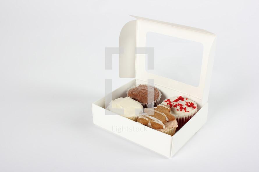 Box of cupcakes.