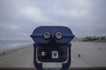 View finder scope on a beach | Vision | Perspective | Sand | Ocean | People | Sky | Sight |