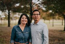 couple portrait in fall