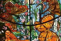 butterfly stained glass windows