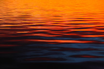 ocean surface at sunset