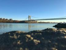 bridge stretching across a river