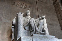 Lincoln monument in the Lincoln memorial