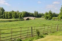 small bridge over a country stream