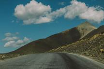 A highway through the mountains.