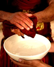 Pontus Pilate washes his hands