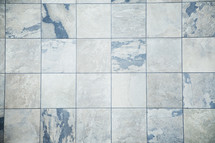 Marble tiles.