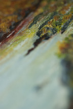 Oil paint on canvas macro