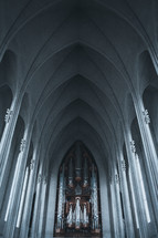 organ pipes in a cathedral