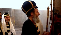 Jewish elders ask Pontius Pilate to judge and condemn Jesus, accusing him of claiming to be the King of the Jews.