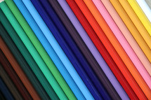 background of colored pencils rainbow