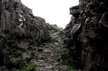 rocky path up a slope