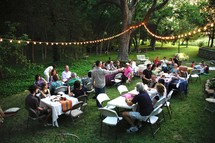 outdoor banquet