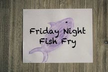 Friday Night Fish Fry Sign
