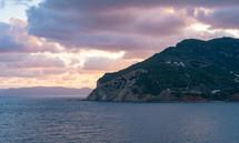 small island at sunrise