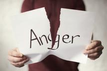 tearing apart Anger