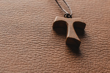 Tau cross necklace