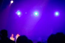 purple stage lights
