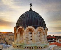 dome of a church in Jerusalem
