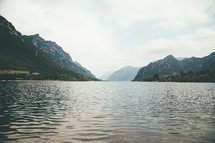 mountains along a coastline