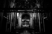 altar in a cathedral in Venice