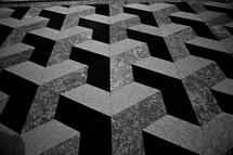 3D pattern on a tile floor