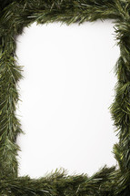 Green Christmas garland border.