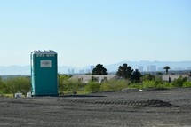 Port-a-potty at a construction site