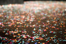 confetti on a stage