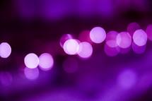 purple bokeh lights