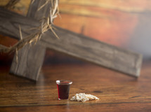 cross and communion elements