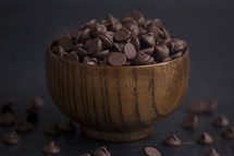 bowl of chocolate chips
