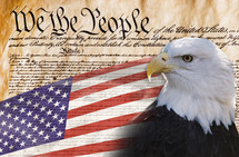 We the people with bald eagle